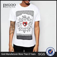Printed t-shirt negative ion clothing custom photo print mens t-shirt all over mens tops high quality