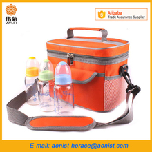 Portable thicker insulation water bottle Fresh breast milk lunch cooler bag with durable hard liner