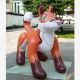 Lovely customized inflatable fox for sale
