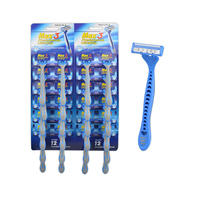 disposable Triple Blade Razor display card razor
