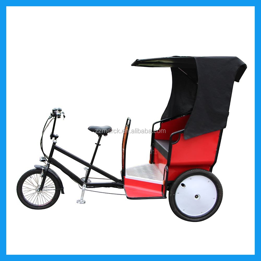 3 Wheelers Manual Velo Taxi Electrique Pedicab Rickshaw for Sightseeing