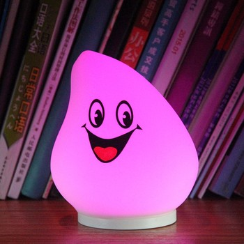 Rainbow Color Changing water drop night light for kids