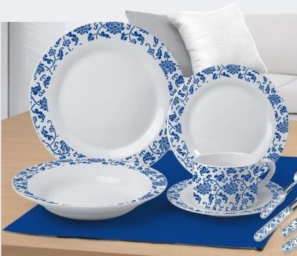 Environmental protection and health tableware Blue and White Porcelain 20pcs dinner set