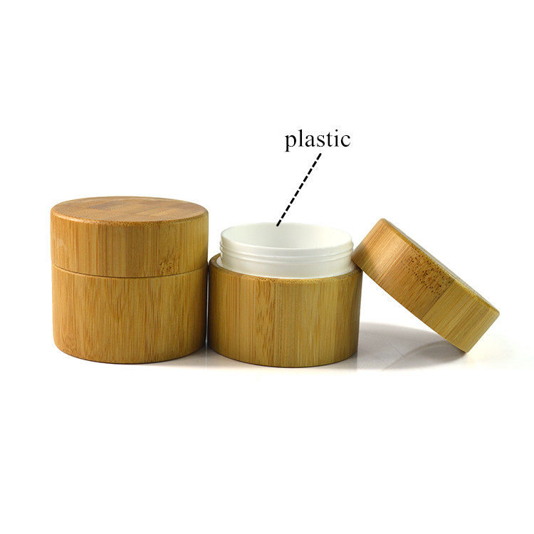 wide mouth bamboo wooden lid 5ml 15ml 20ml 30ml 50ml 100ml bamboo cosmetic jars for face cream packaging