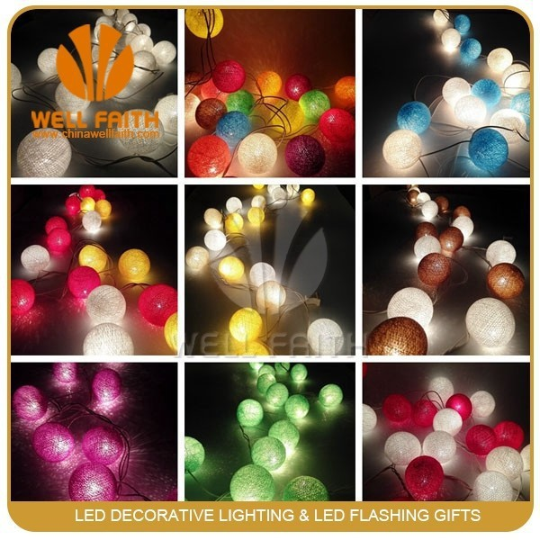 3m 20 Big LED Cotton Ball Light Chandelier Luminarias Decor Navidad Lamp 3M Boule Lumineuse Pendant colorful solar garden lights