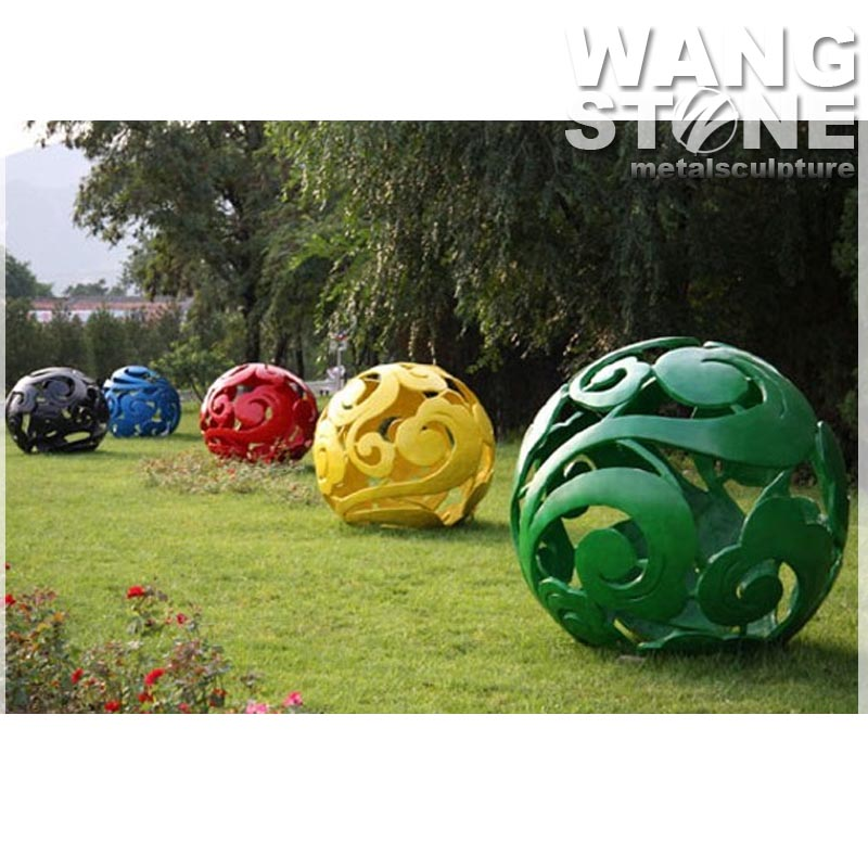 Colorful Modern Decorative Hollow Metal Stainless Steel Ball