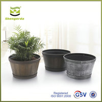 wooden house flower pots decorative plastic plant pots