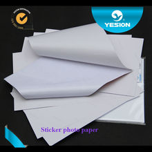 Strong stickness 135gsm A4 Self Adhesive sticker photo paper for inkjet printers