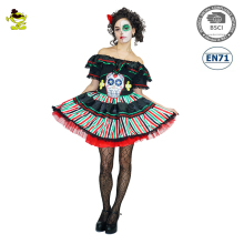 Adult Clown Costume New Fantasia Circus Costumes Female Diamond Pattern Fancy Dress Halloween Costume for Women