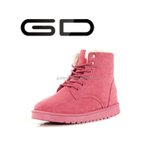 Latest woman shoes winter ladies leather shoe snow ankle boots