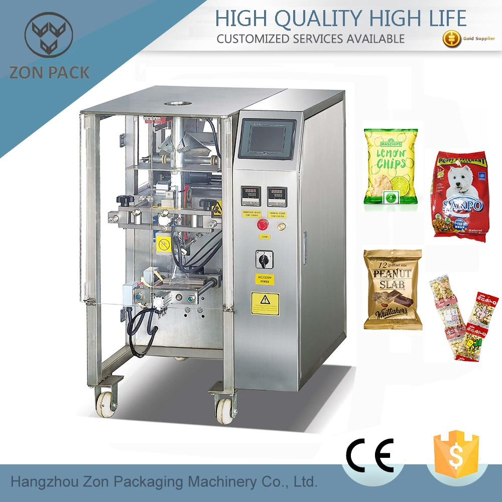 Vertical automatic snacks filling and sealing packaging machine