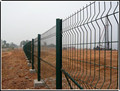 Galvanized welded wire fence panels with PVC coated