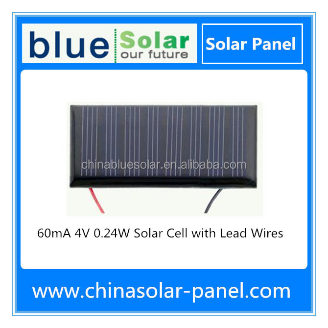 mini 4V 60mA PV solar cell with leads