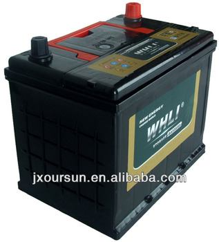 high cost performance 12v storage battery N60MF 12V 60AH WHLI