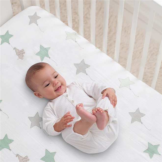 100% Organic Cotton Fitted Crib Sheet,Fitted Bed Sheet
