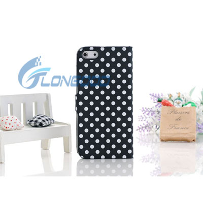 Flip Stand Polka Dot Magnet Leather Wallet Detachable Case For iPhone 5 5G
