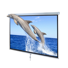 Hot Sales!! Cheapest!! Rolling up projection screens/Manual projection screens Self-lock projection screens