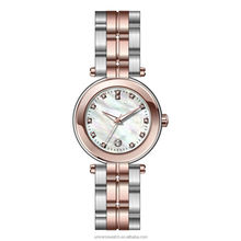 Super slim elegant MOP dial rose gold-plated stainless steel fancy ladies watches 2017
