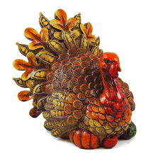 Resin Harvest Turkey Table Decorations Figurine For Thanksgiving