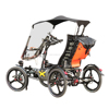 Elderly Traveling Aluminum Alloy 500W Mid Drive Motor 4 Wheel Electric Recumbent Quadricycle Bike