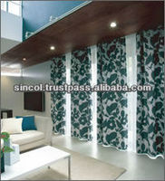 100% Polyester UV reduction and fireproof design new product curtains