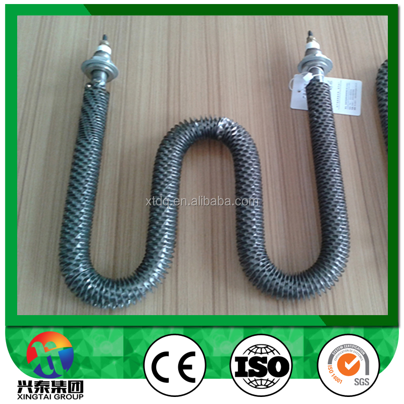 240V W shape finned tubular heater electric heating element/air heater