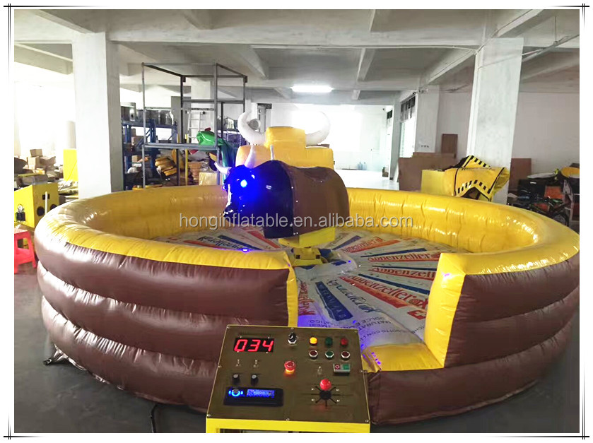 Mechanical Bull Ride For Sale, Kids Inflatable Mechanical Bull Riding Toys Inflatable Sports Games For Sale