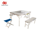 Factory Cheap 100% Test Outdoor Folding Canvas Chair Cast Aluminum Table And Chairs