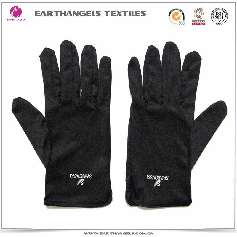 Custom silk screen printed microfiber jewelry cleaning polishing gloves