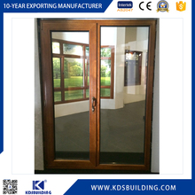 Security Anti-Theft China Wooden Glass Door With Key And Lock
