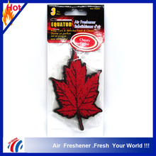 cherry scent red leaf shape paper car air freshener/custom logo printed long lasting perfumes smell paper car air freshener
