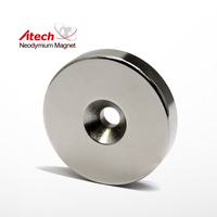 Strong and Hard customized Shape Neodymium Magnet With Funnel Hole