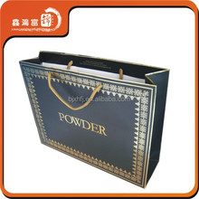 Luxury style different types black shopping paper bag for clothing