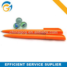 High Quality,Orange Advertising Rotating Plastic Ball Pen