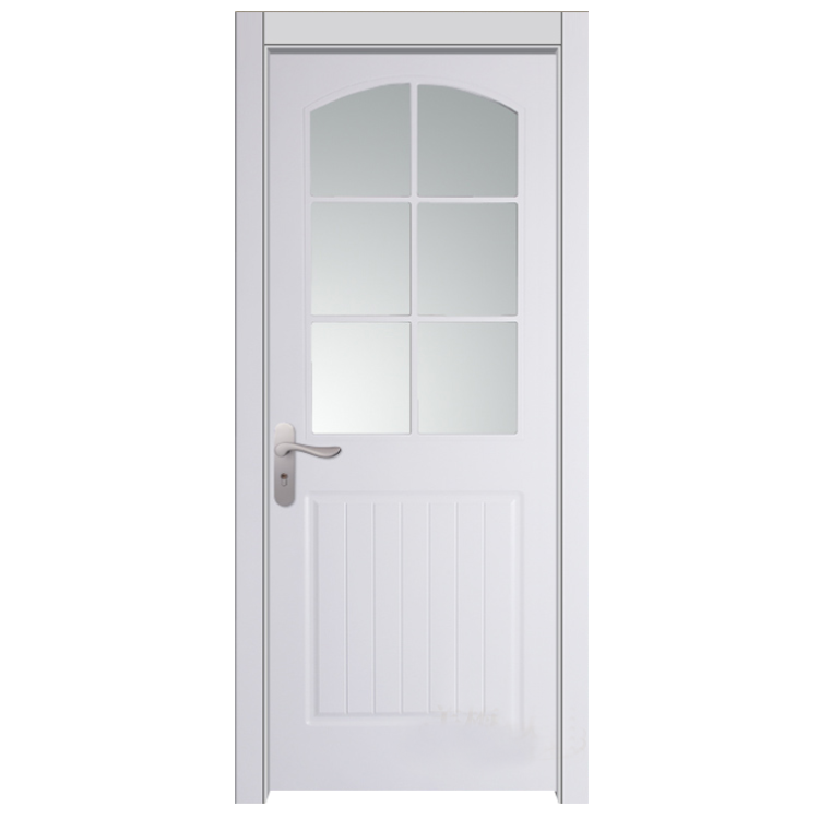 China supplier morden white lacquer glass solid wood interior door