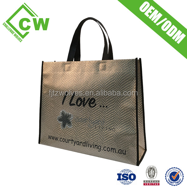 branded non-woven shopping handbag