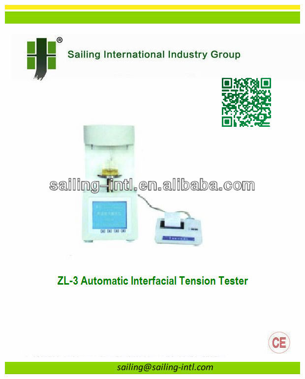 ZL-3 Automatic Interfacial Tension <strong>Tester</strong>