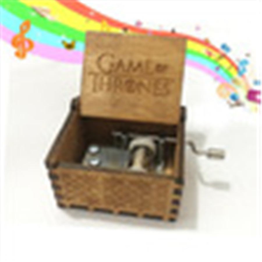 Hot Selling Wooden hand crank Music Box theme Wooden Music Box Power Game