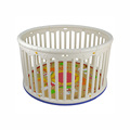 New Deluxe Plastic Round Baby Playpen Play Center with Padded Mat
