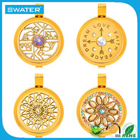 Jewelry Making Supplies Gold Stainless Steel Coin Dream Catcher Necklace