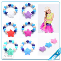 Silicone teething imitation jewellery beads bracelet jewelry