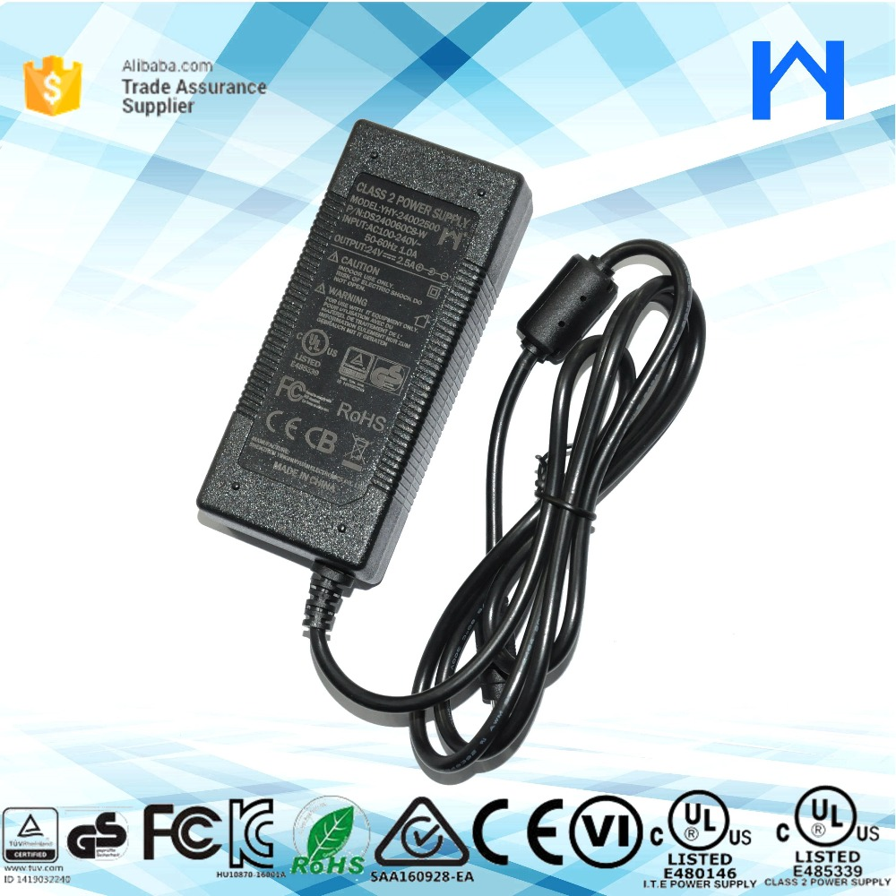 led adapter 24V 2.5A ac to dc charger 24Volt 2.5Amp power adapter UL KC CE approval