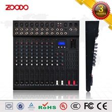 KS-08X Professional 8 Channel Sound DJ Mixer