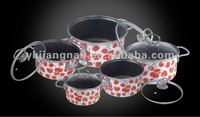 10PCS porcelain enamel nonstick cookware set