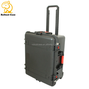 Factory wholesale peli style IP67 Waterproof Shockproof Hardshell Rugged Safety Equipment Case with foam and wheels
