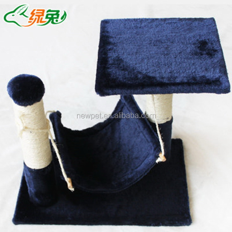 China manufactory new design cat tree climbing promotional cat toy cat beds hammock with solid cardboard