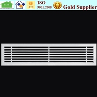 Aluminum linear ceiling air conditioning diffuser