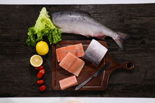 Frozen pink salmon types of boneless fish fillet with high quality
