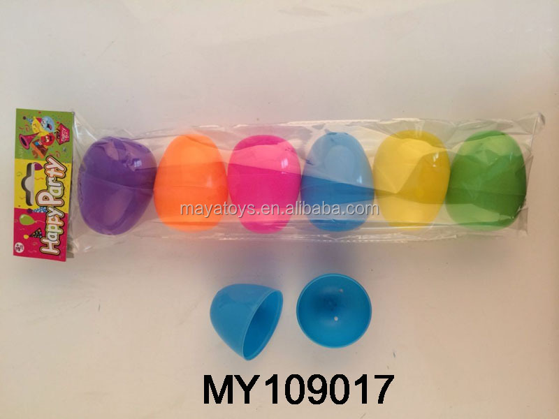 8cm decorative plastic easter egg / Customized Colorfull egg shape capsule