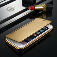 New Arrival Popular Flip Cover For iPhone6 Slim Mirror Shinning Cases for iPhone 6 6 plus same design for samsung S6 S6 Edge